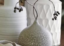 Grey teardrop vase from Crate & Barrel