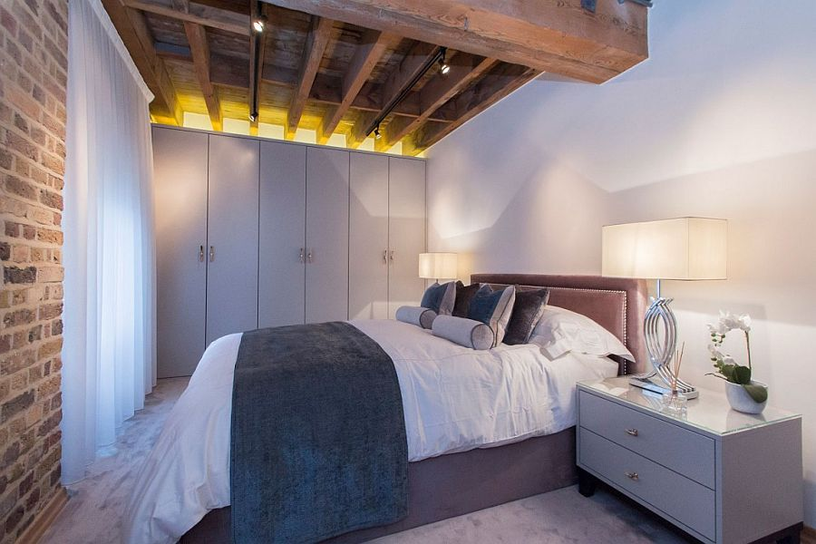 Bespoke wardrobes, cabinets and lovely sheer blinds for the stylish London bedroom
