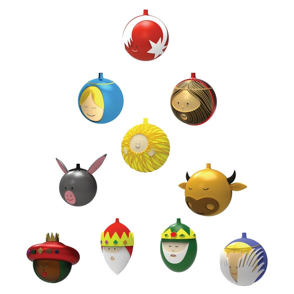 Blown glass Christmas ornaments LE PALLE PRESEPE