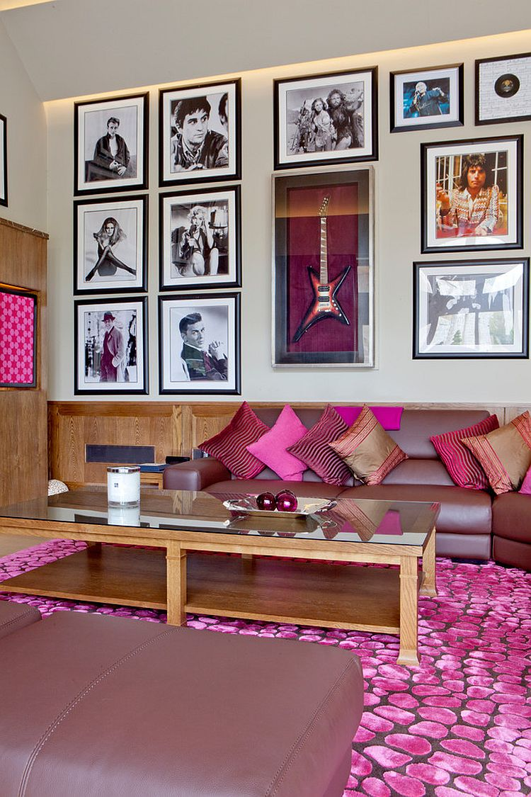 Living Room Furniture Purple 20 classy and cheerful pink living rooms
