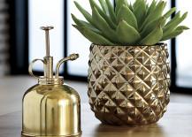 Brass pineapple vase from CB2