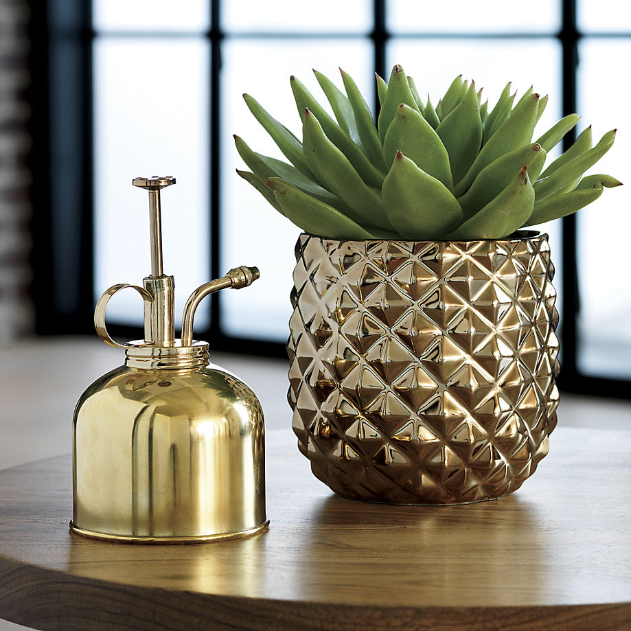 Brass pineapple vase from CB2