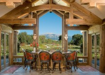Breathtaking view outside is framed perfectly from the dining area