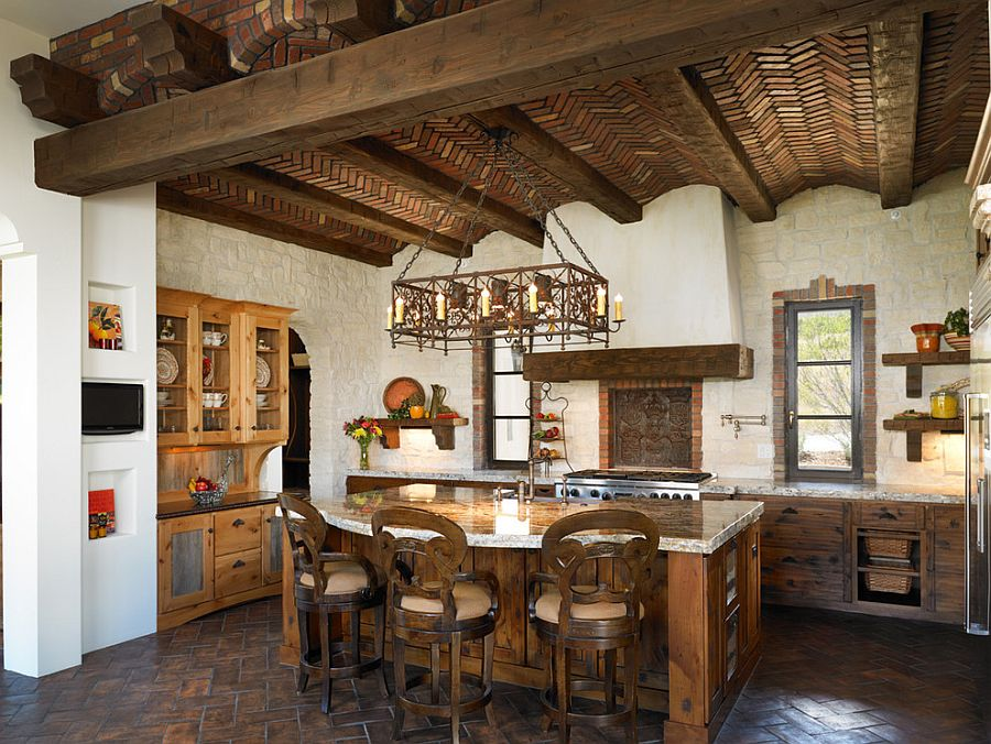 Brick barrel vault ceiling is the real showstopper in this bespoke kitchen [Design: Godden Sudik Architects]