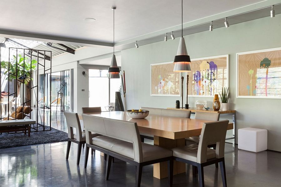 Bright and beautiful dining area connected with the open plan living space