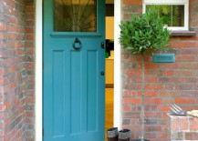 Bright blue painted front door 217x155 Paint the Front Door: 10 Helpful Tips