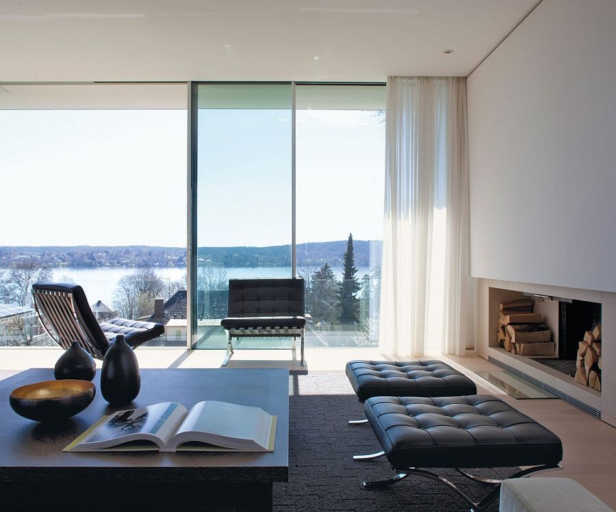 Captivating view of Lake Starnberg from the living space of House S