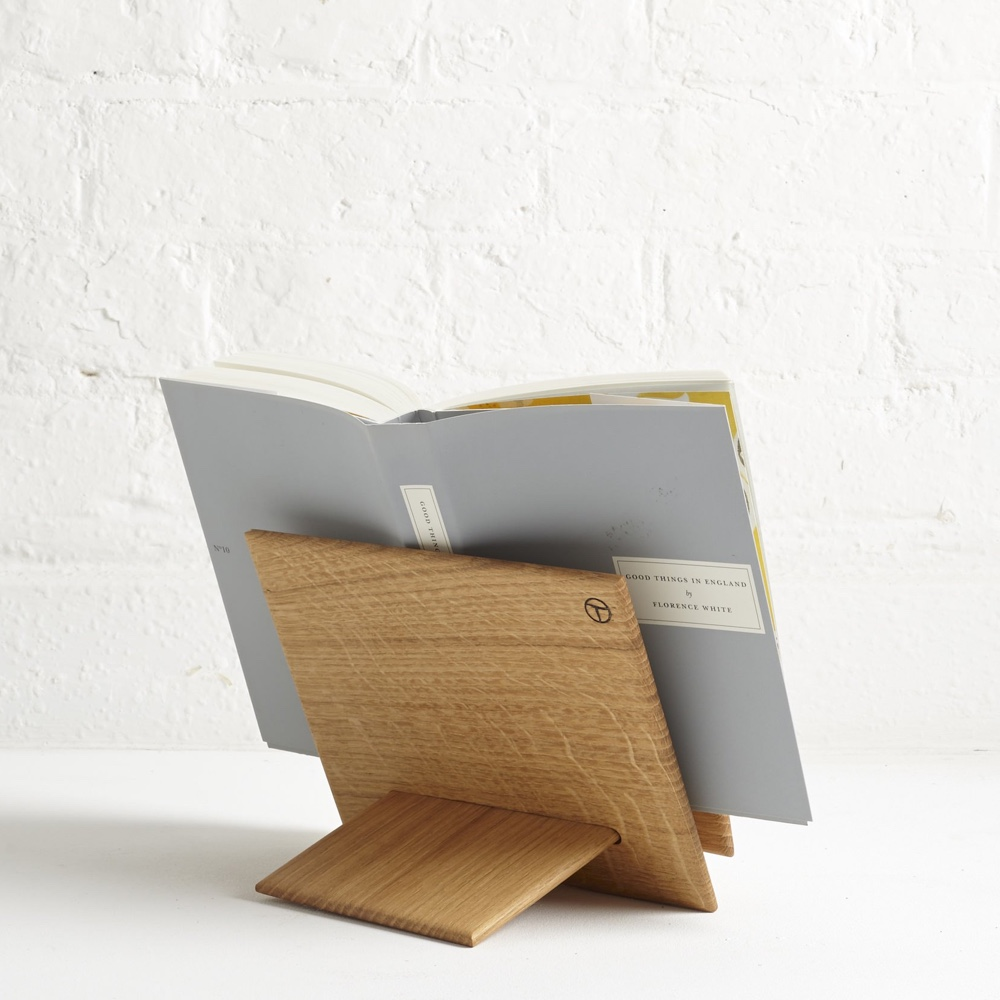 Carved Book Stand by Tim Plunkett