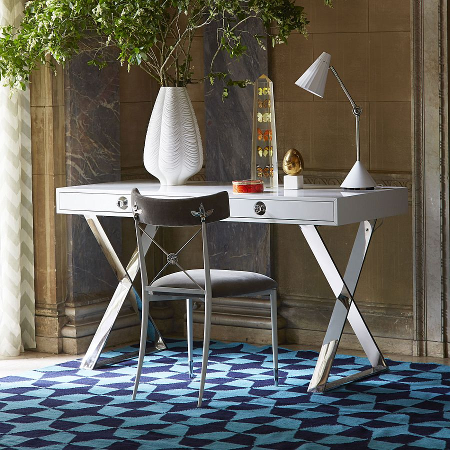 trendy desks to complete the perfect modern home office - view in gallery channing desk adds style and glamour to the home office