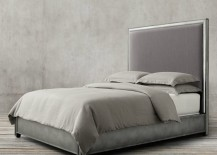 Chic upholstered bed from Restoration Hardware