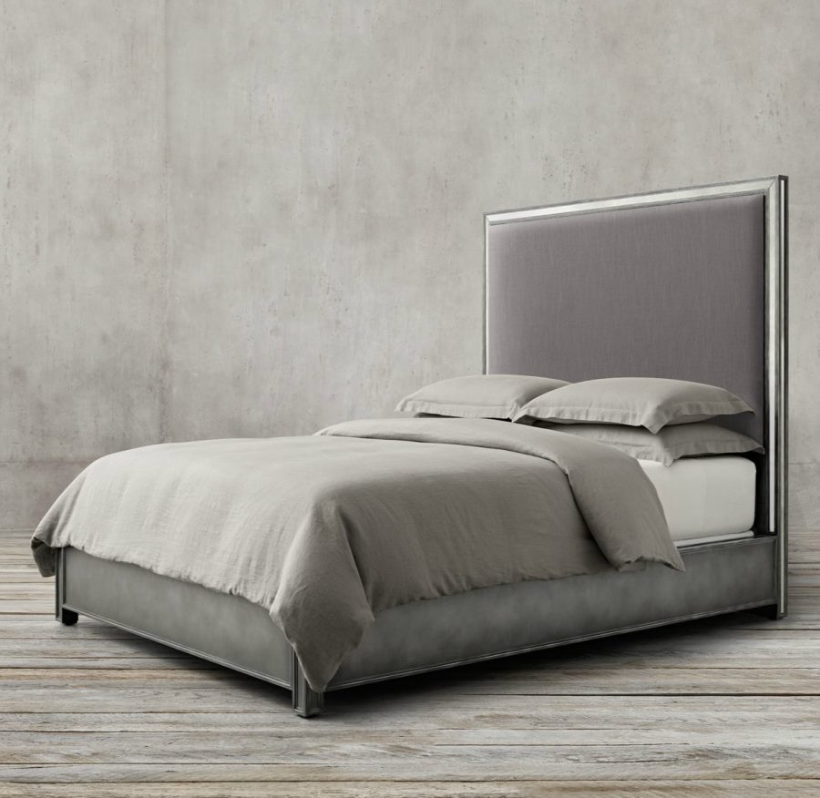 view in gallery chic upholstered bed from restoration hardware