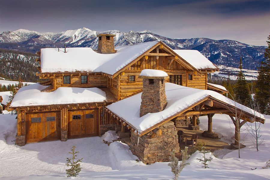 Classic mountain cabin in Big sky with modern comfort