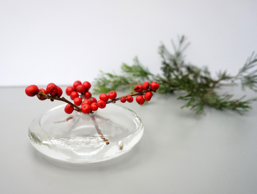 Clean and modern holiday centerpiece