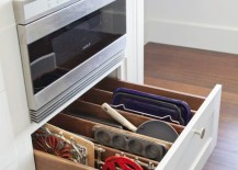 Clever kitchen drawer storage solution