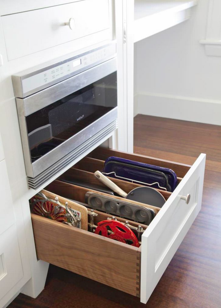 Clever kitchen drawer storage solution