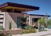 Clever use of overhangs offer protection from the harsh desert sun
