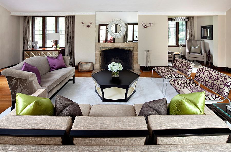 Cheap Bold And Glamorous How To Style Around A Black Coffee Table With  Black And Purple Room Part 63