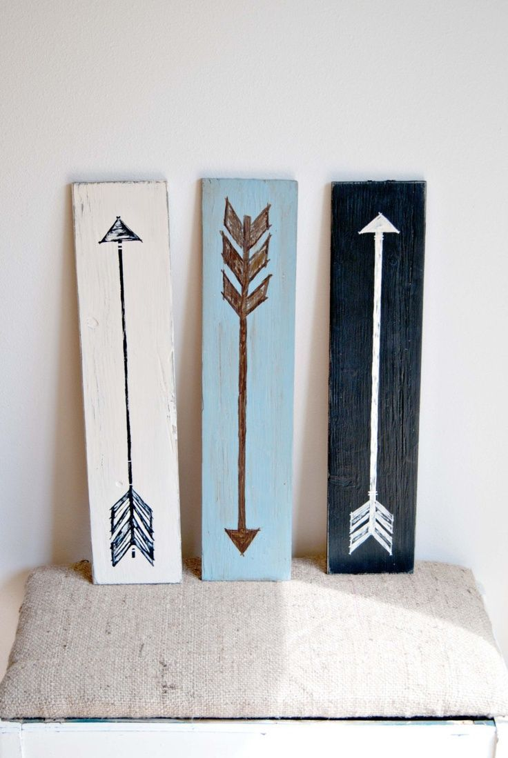 15 striking ways to decorate with arrows Simple wall art