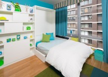 Color scheme of the room gives the guest room playroom a lovely ambiance