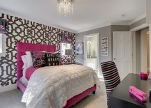 Combine a hint of pink with gray to shape a stylish girls' bedroom