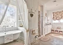 Comfy-shabby-chic-bathroom-in-white-with-claw-foot-bathtub-217x155