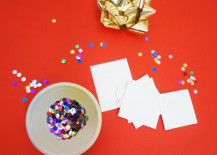 Confetti is a key ingredient in this project