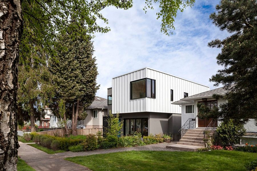Contemporary design of the Grade House lets it stand out from home around it with ease