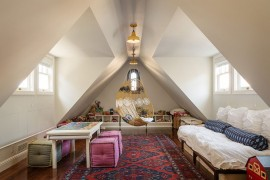 Cool hangout for kids and adults alike in the attic!