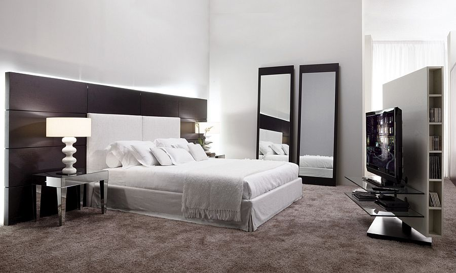 Cozy and modern bed from Porada with Hotel-inspired design