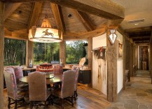 Cozy custom dining room with rustic elegance