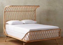 Curved rattan bed from Anthropologie