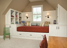 Custom daybed also brings along with it ample storage space