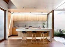 Custom kitchen isalnd and breakfast zone with smart bar stools