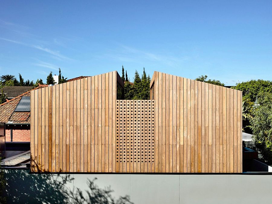 Custom timber screens bring privacy to contemporary home in Elwood, Victoria