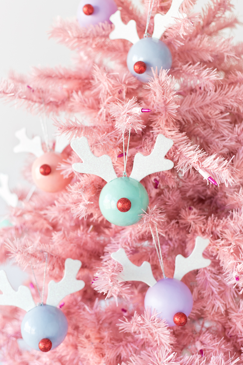 DIY Rudolph ornaments from StudioDIY