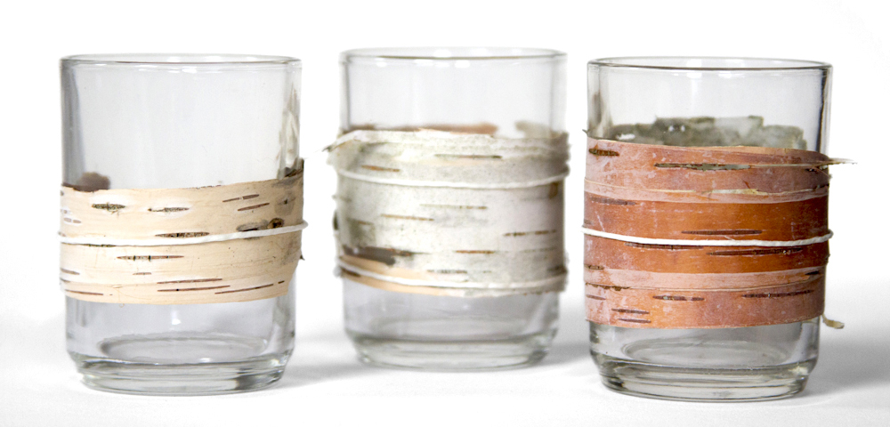 DIY birch bark candleholders from My Kitchen Sink