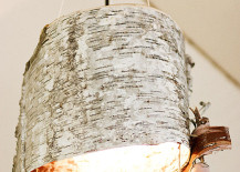 DIY birch bark lamp from Ruffled