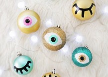 DIY eye ornaments from A Beautiful Mess 217x155 A Holiday Season Survival Guide for Design Lovers