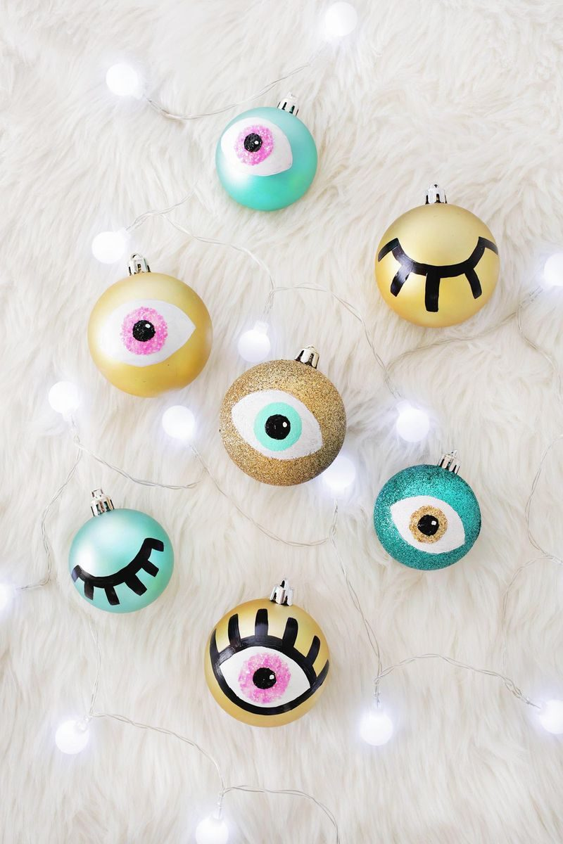 DIY eye ornaments from A Beautiful Mess