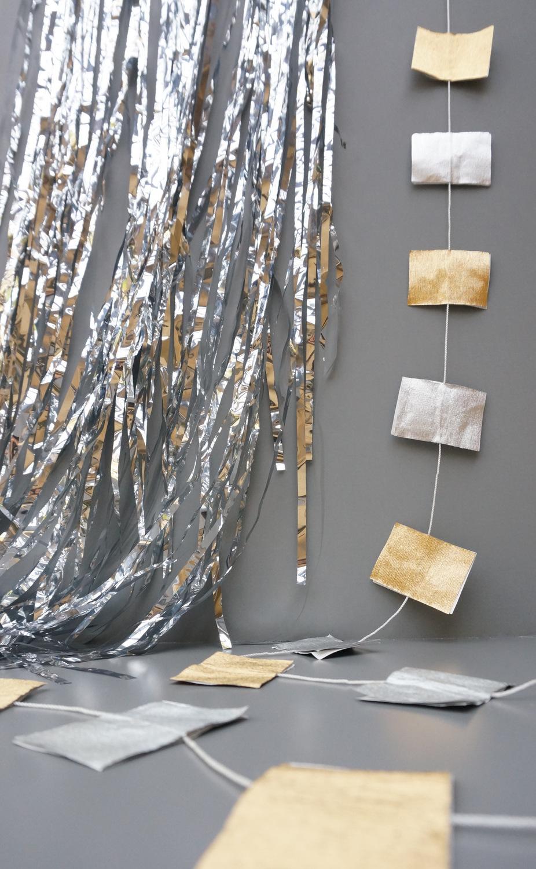 DIY metallic garland