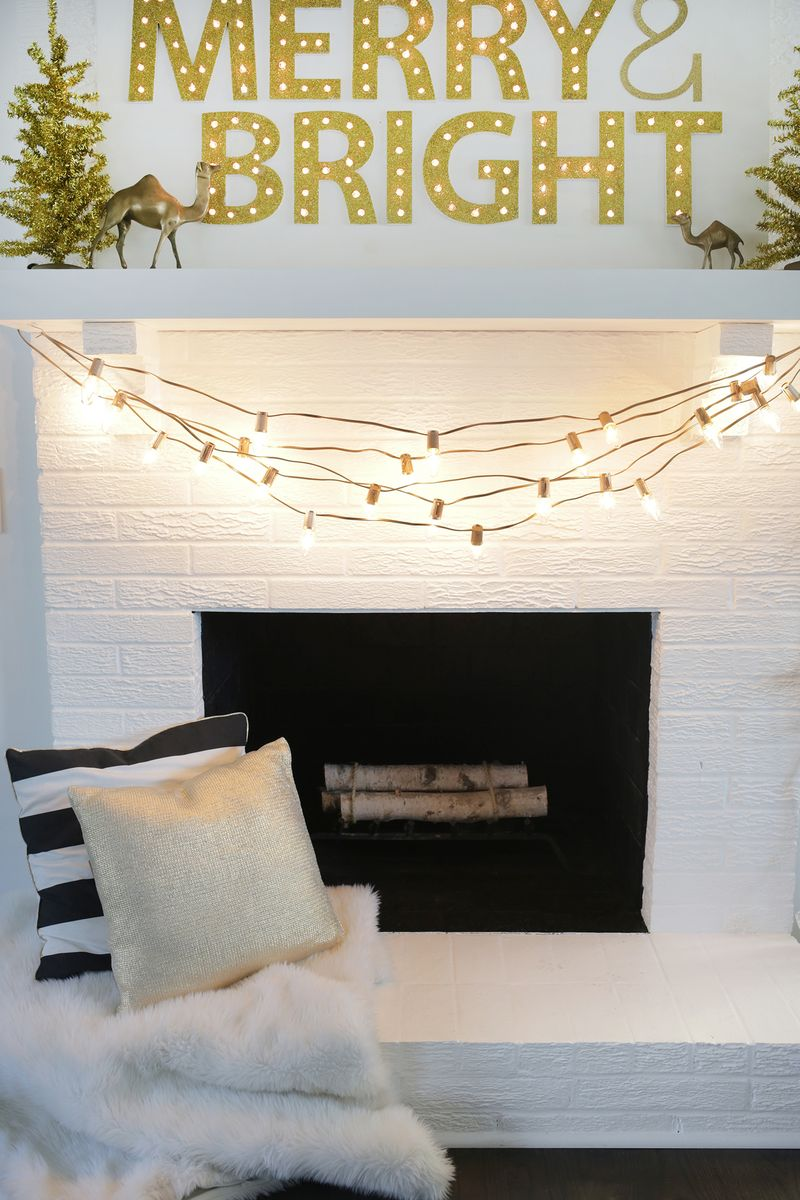 DIY painted Christmas lights from A Beautiful Mess