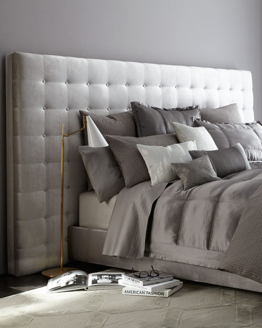 Decadent tufted bed from Horchow