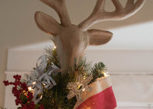 Deer head tree topper