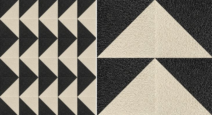 Diagonal-cut rug from Flor