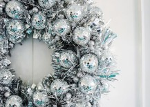 Disco ball wreath from A Beautiful Mess 217x155 Christmas Eve Ideas for a Festive Gathering