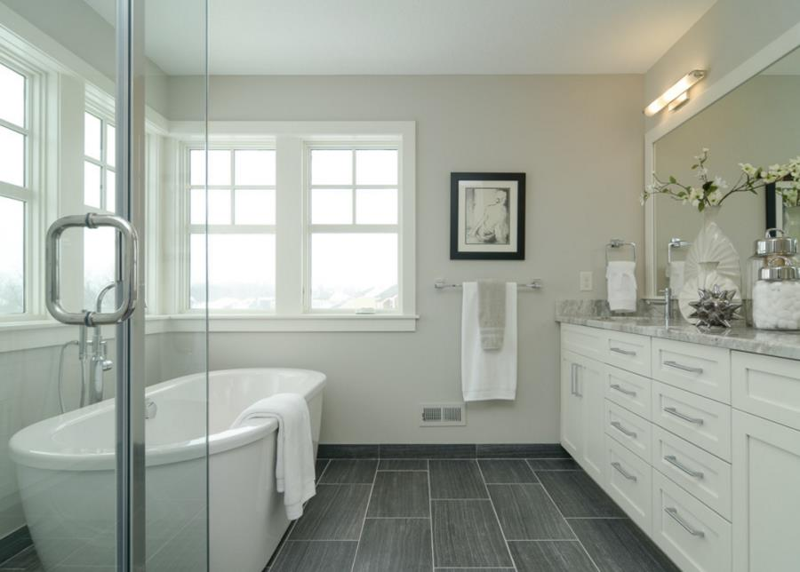 View in gallery Dream bathroom with clean grout