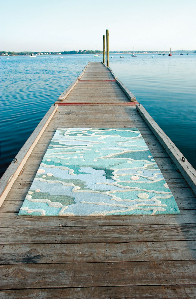 Dreamy ocean-motif rug from Angela Adams