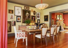 Eclectic dining room with a beautiful gallery wall
