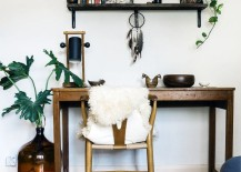 Eclectic-office-space-with-wood-furniture-and-touches-of-greenery-217x155