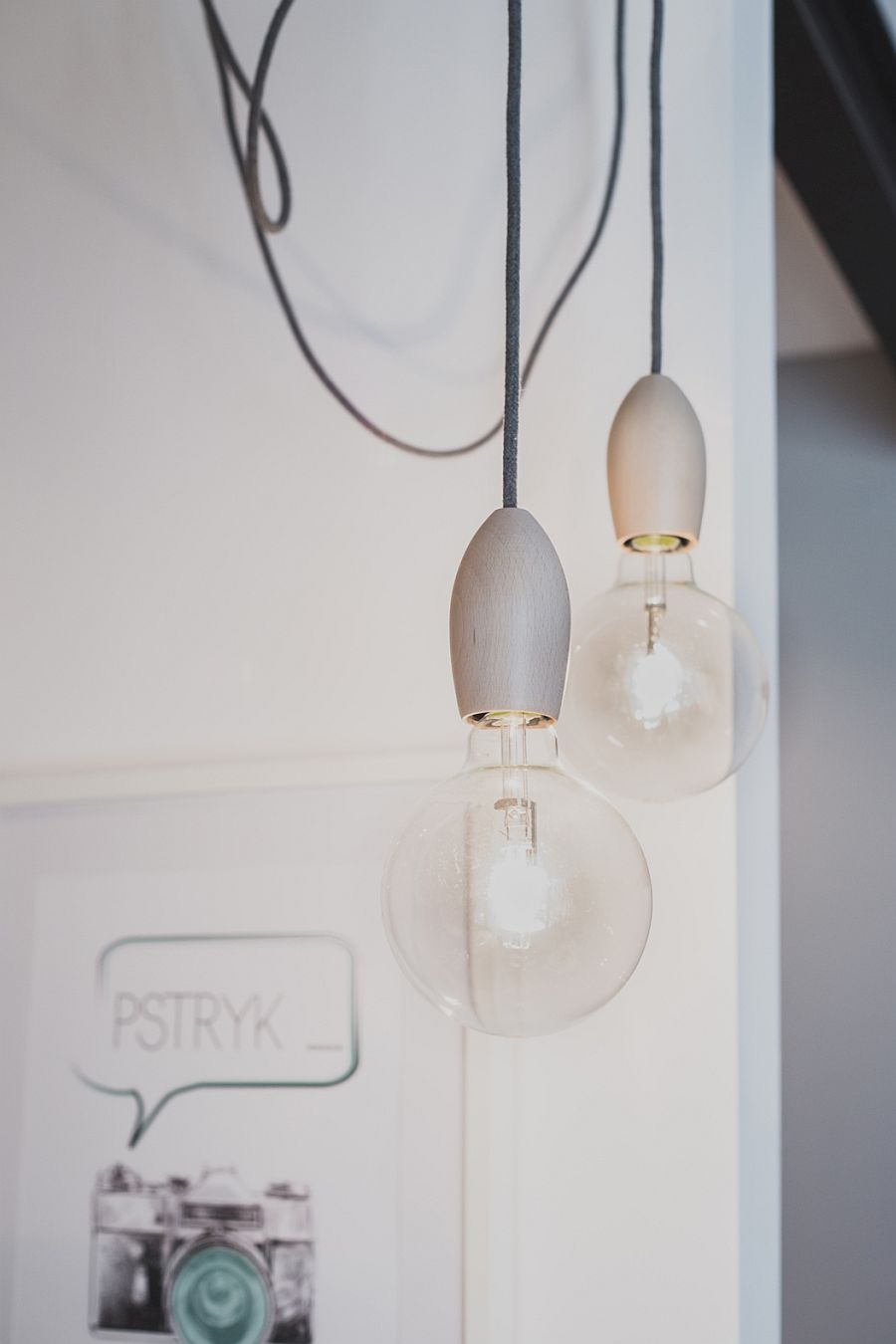 Edison bulbs with Scandinavian-inspired design offer lovely lighting